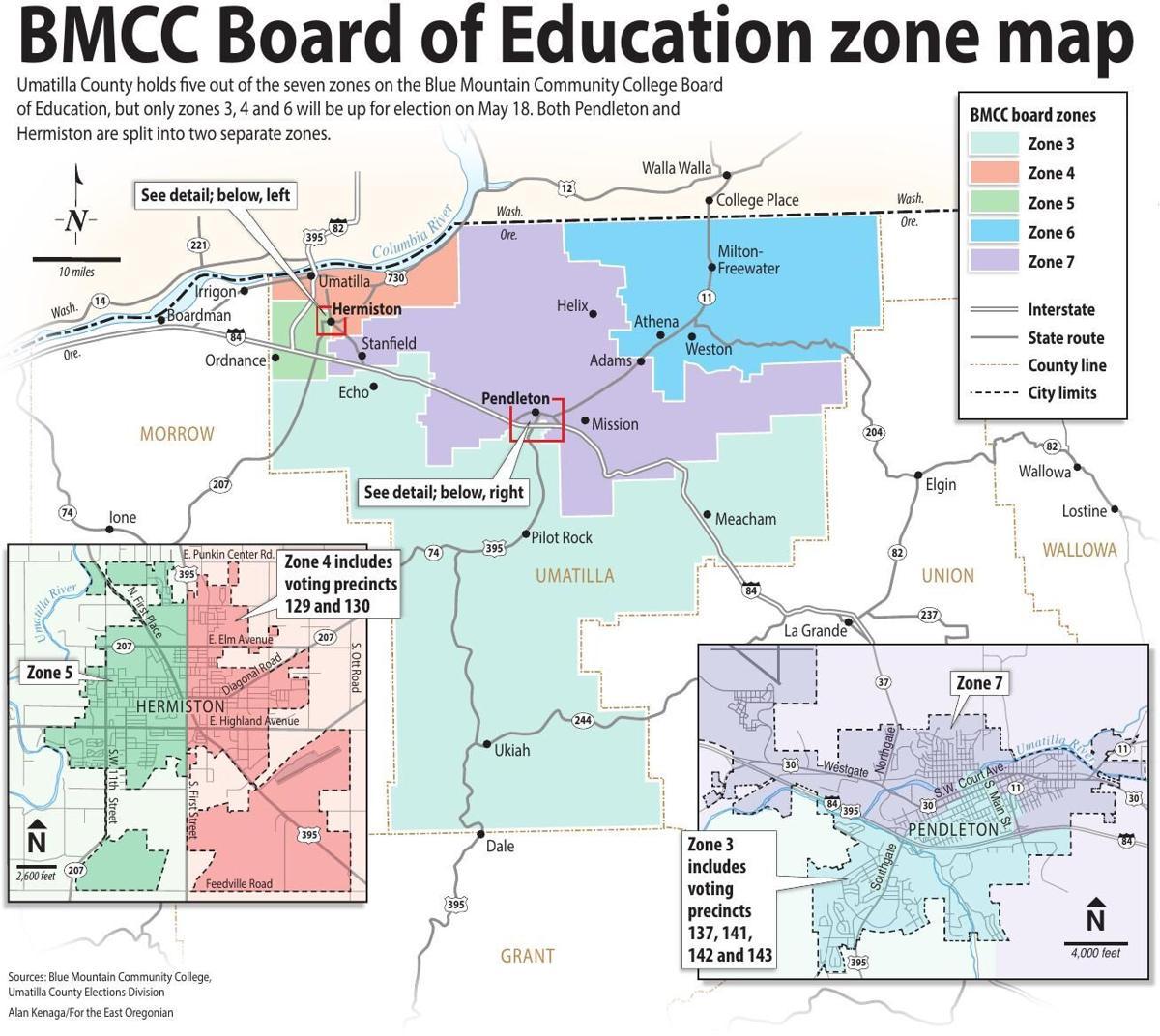 BMCC Board of Education zone map