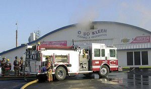O So Kleen catches fire