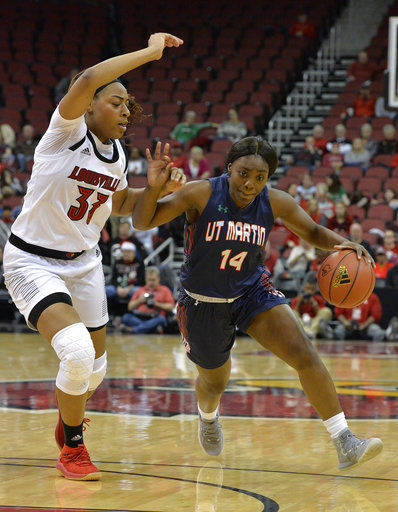 No. 5 Louisville pounces on UT Martin in 102-62 blowout
