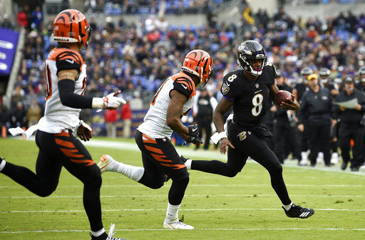 For a game, calling Lamar Jackson's number kept working