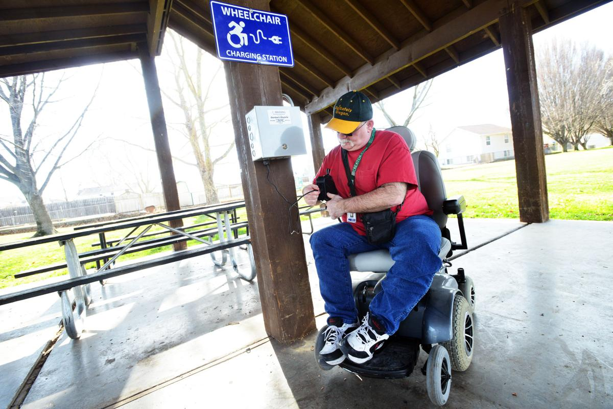 Wheelchair recharging station first at state capitol