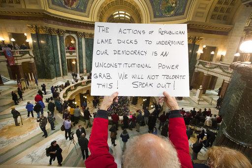 The Latest: Wisconsin Legislature OKs weakening governor, AG