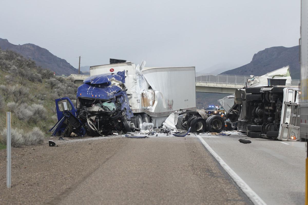 Semi crash closes I-84, hazmat team on scene | Local News