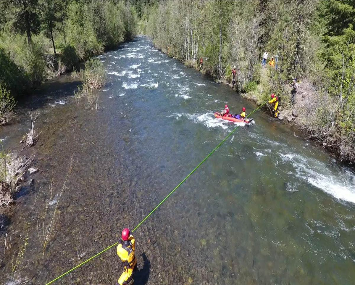 Drone delivers food to hunters during river rescue