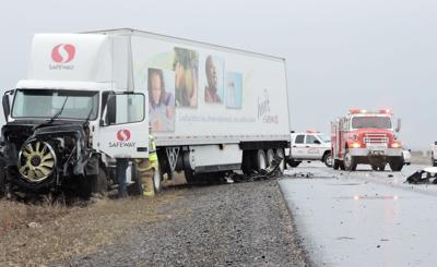 HERMISTON Three-vehicle collision sends two to hospital