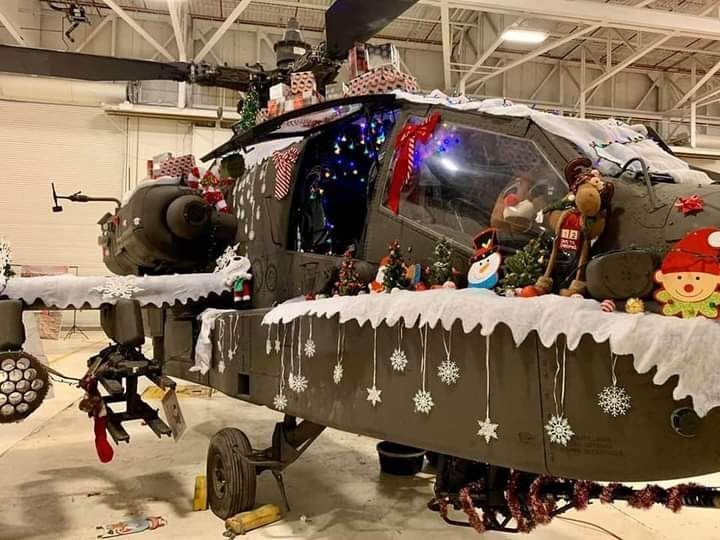Apache Helicopter decorated