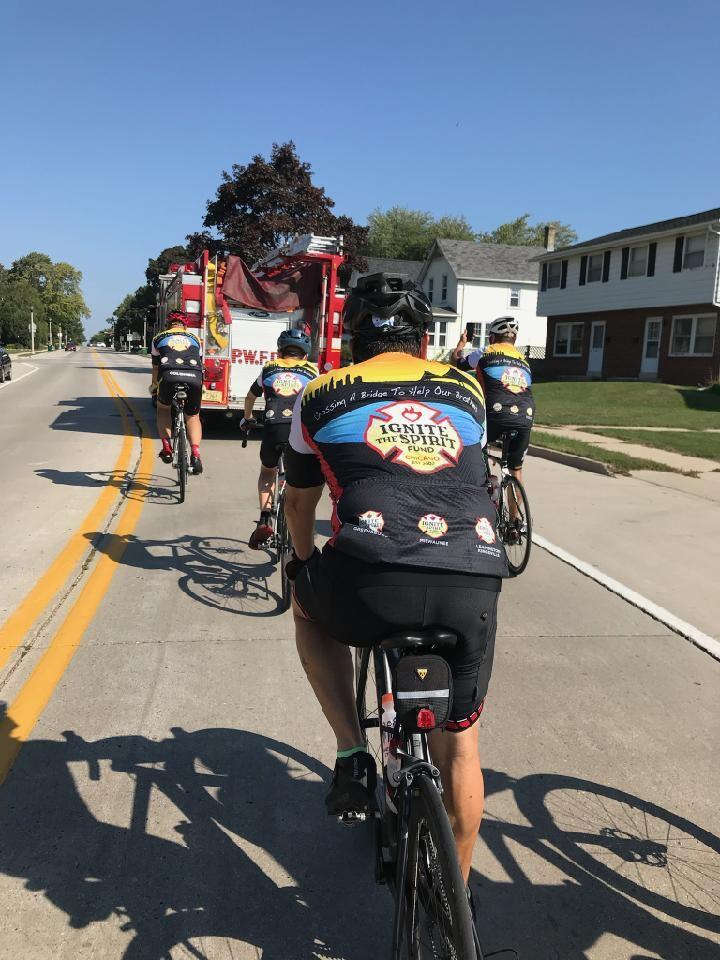 Bike to Fight Cancer group receives escort through Port Washington