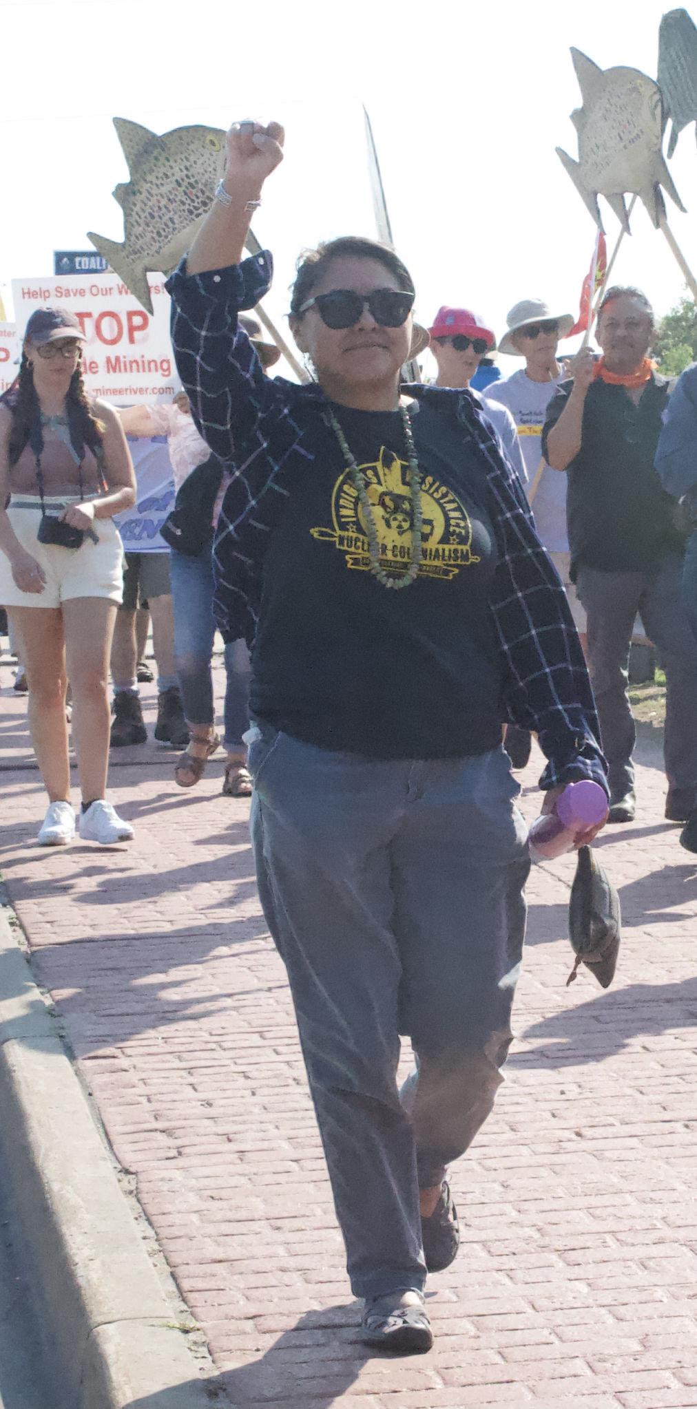 Protester Leona Morgan