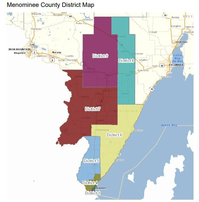 Menominee County's new districts look largely the same