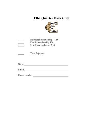 QB club membership form