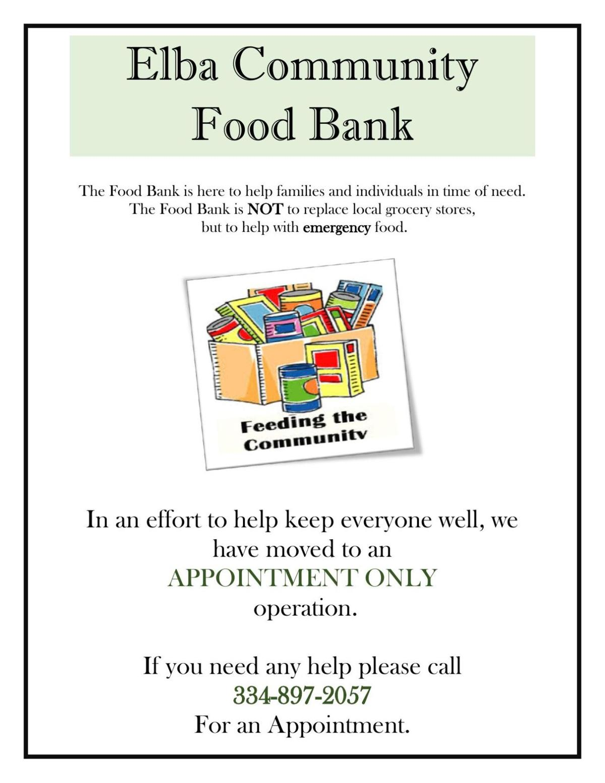 Elba Community Food Bank Information