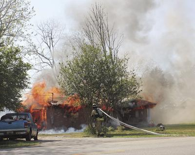 Hwy 141 house fire