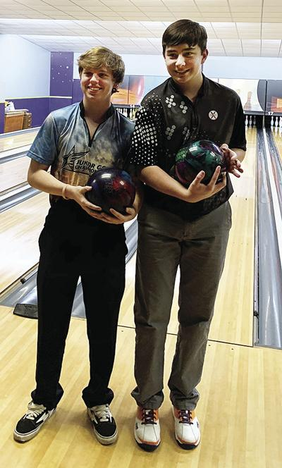 Drew and Austin bowling