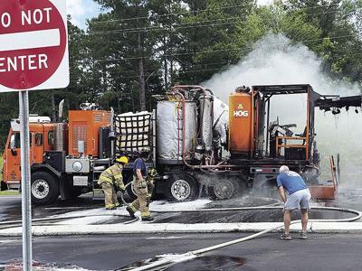 Paint truck fire