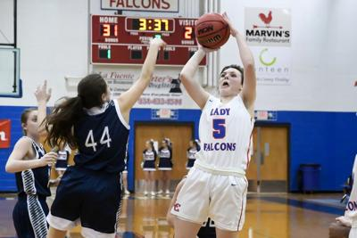 Lady Falcons pick up pair of district wins