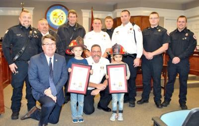 Youngsters named Honorary Firefighters for heroism