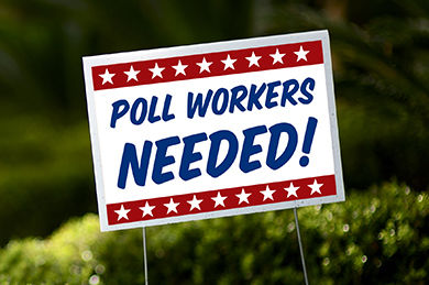 Poll officials are needed