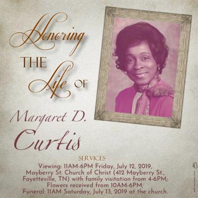 Margaret D. Curtis obituary