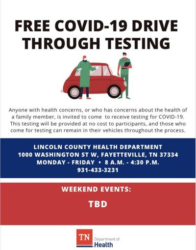 Lincoln County COVID-19 free drive-through testing