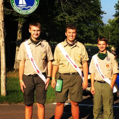 Local scouts inducted into National Honor Society