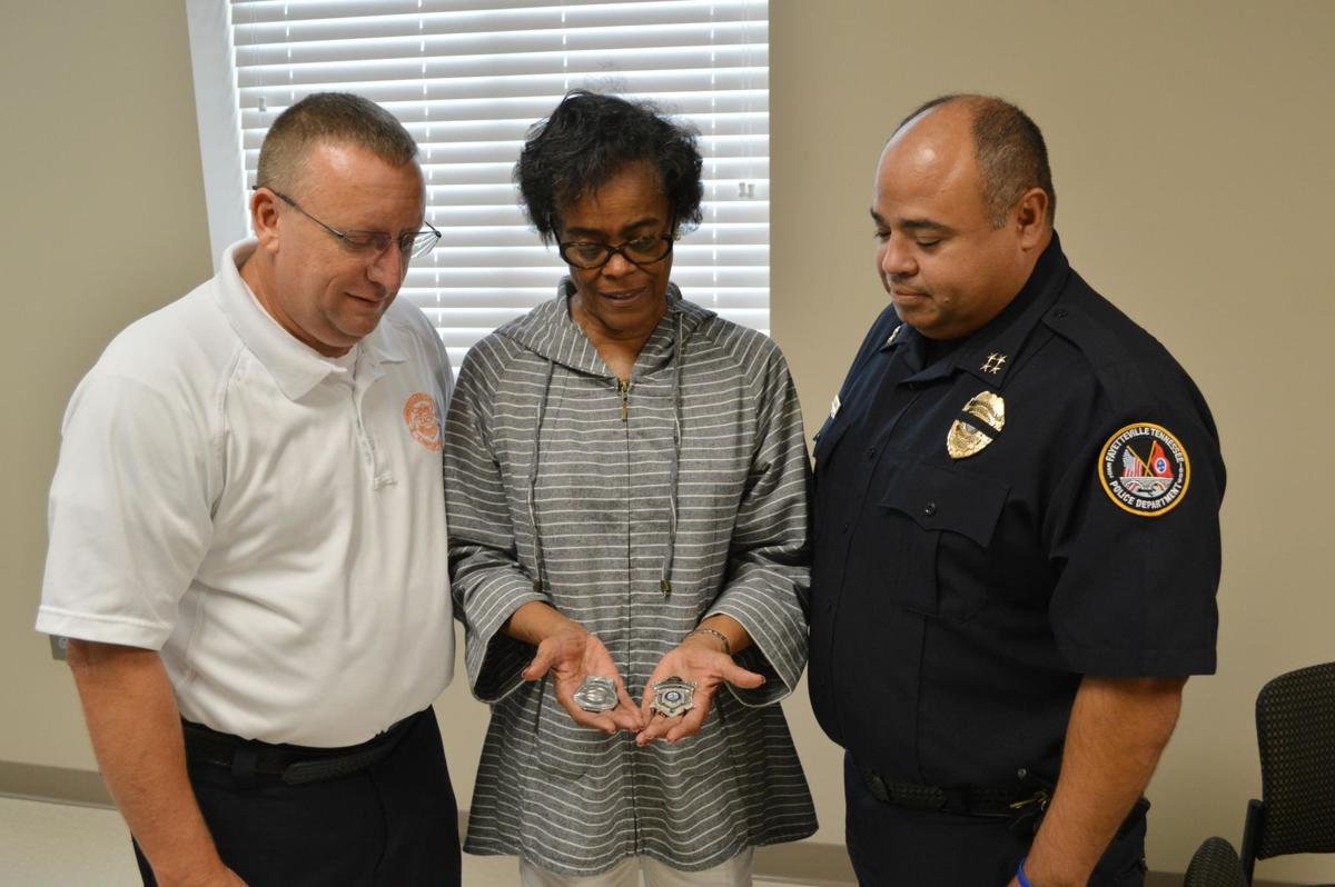 Jeter donates two retired badges to FPD | Local News