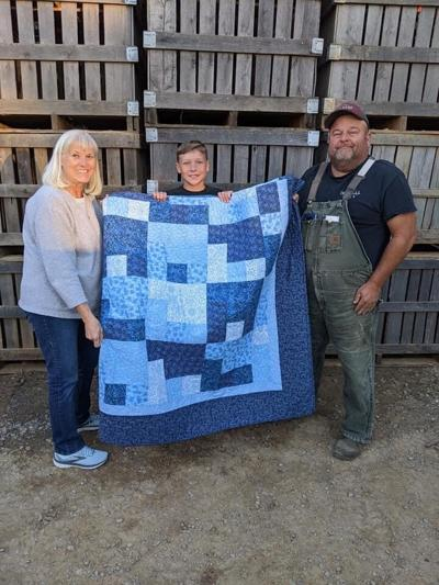 RallyForRiley quilt recipient donated it as an auction item to raise more money