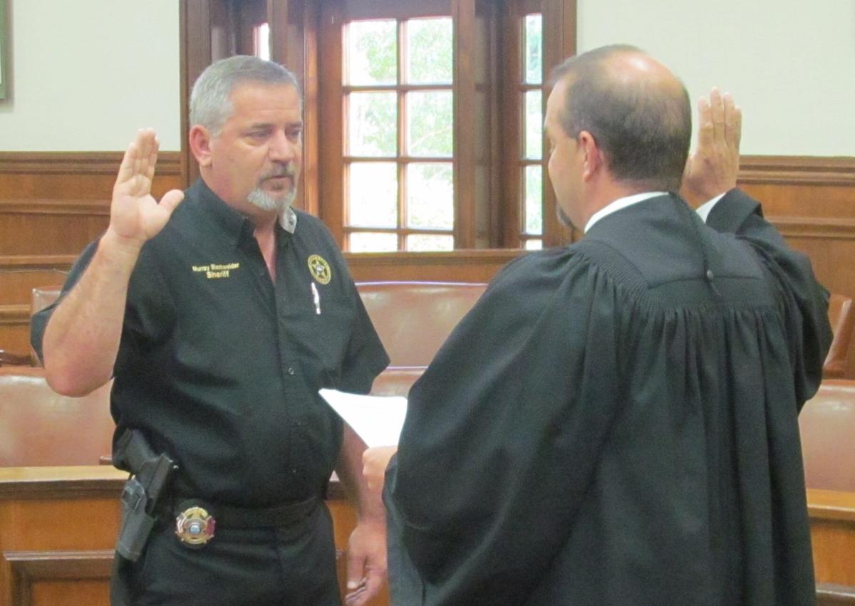 Blackwelder sworn in to office