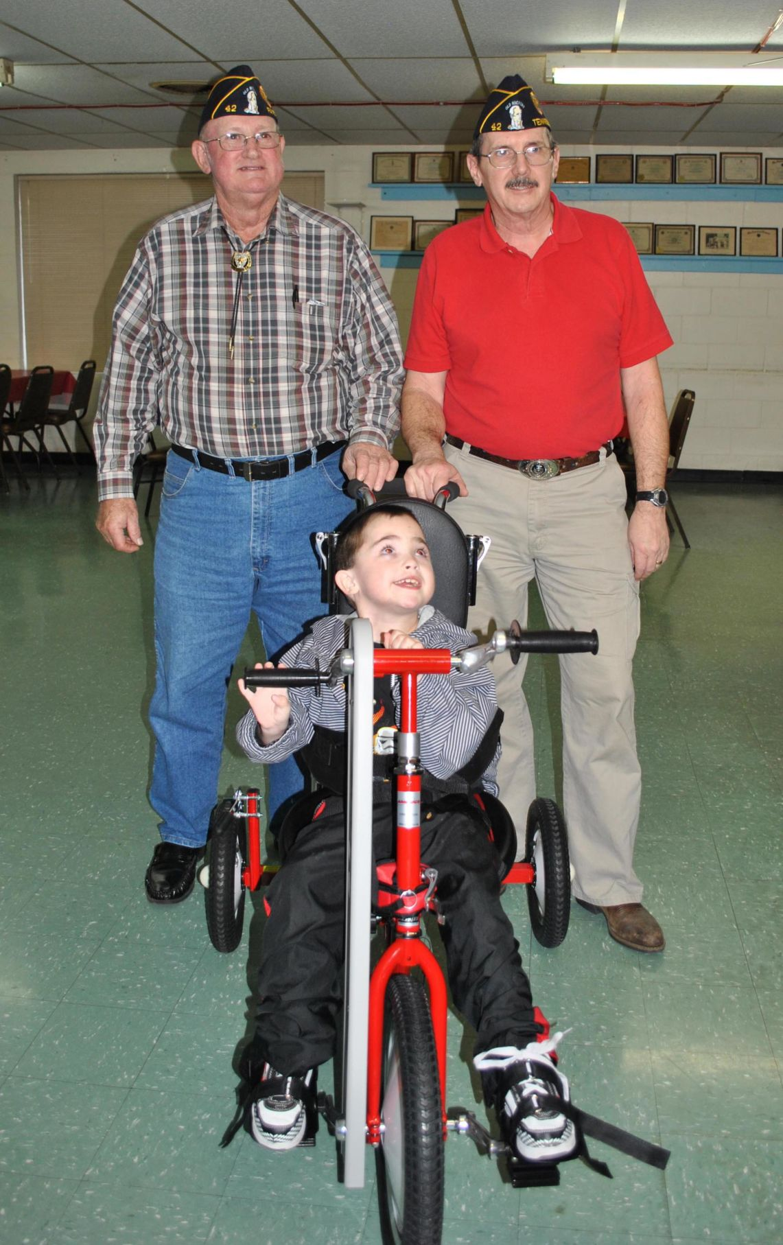 Efforts of local veterans, therapists help disabled child