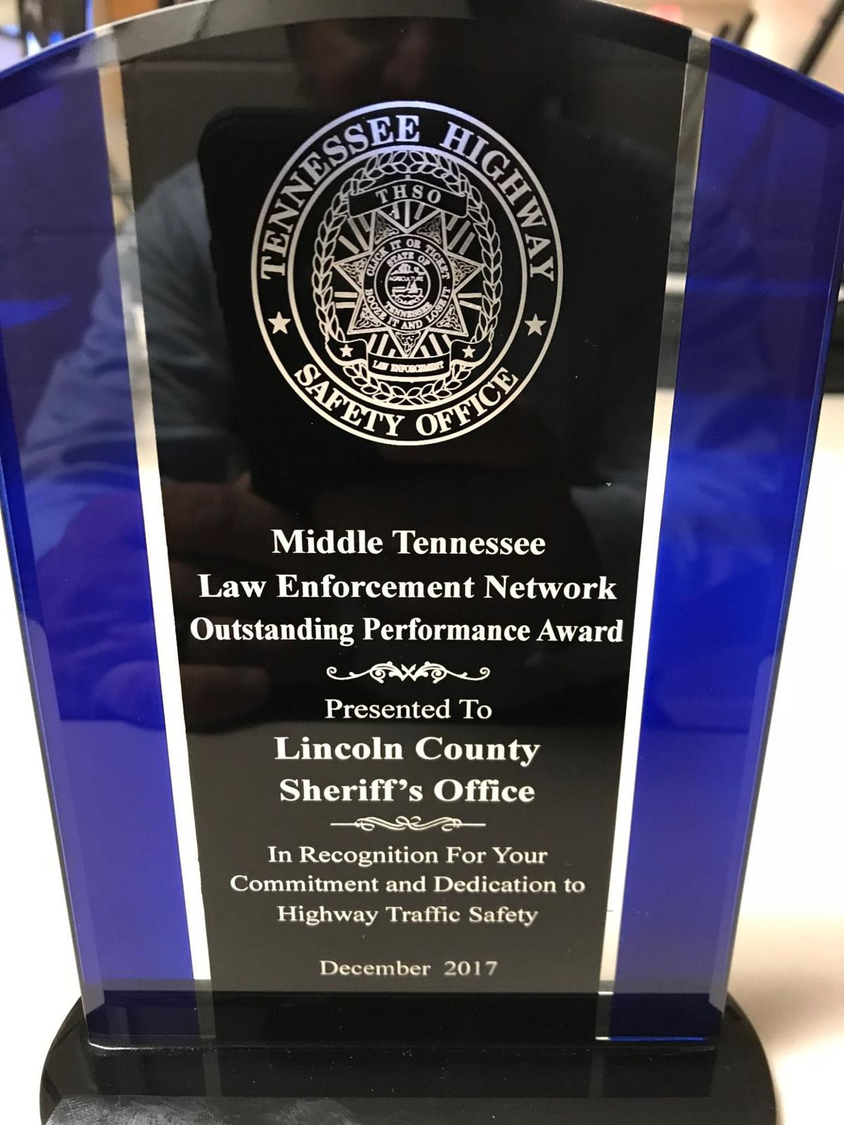 LC Sheriff's Dept. wins Outstanding Performance Award