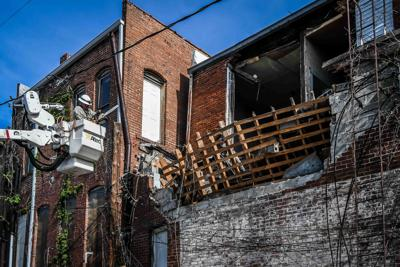 Addition wall collapses at downtown building
