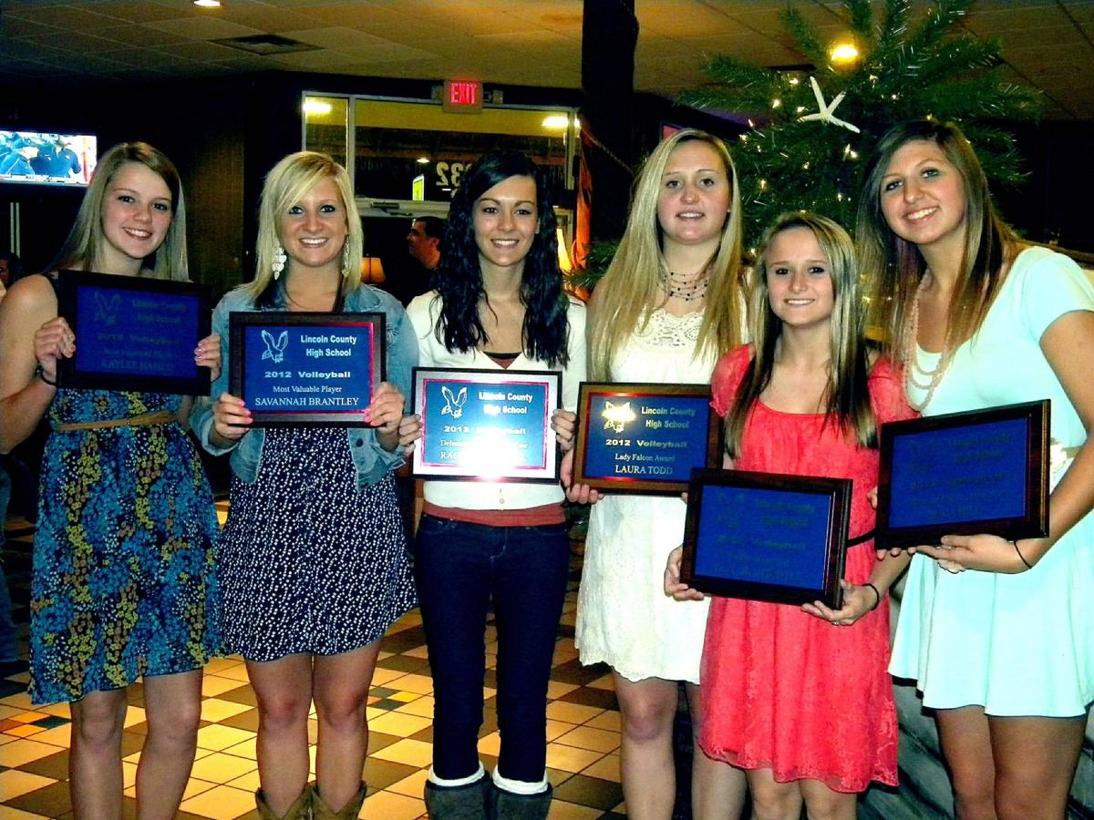Lady Falcon volleyball awards