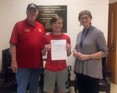Fms Student Wins Patriotic Essay Contest Shares Why He Honors  Quentin Pace At Center A Fayetteville Middle School Student Won The  Local Patriots Pen Essay Contest Organized By The Veterans Of Foreign  Wars Vfw