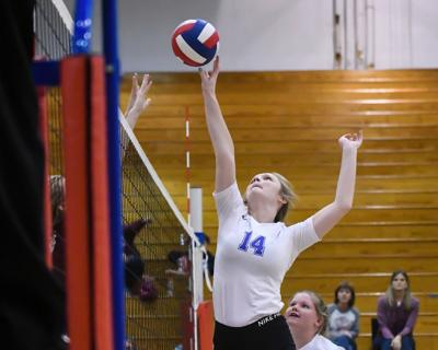 Lady Falcon Volleyball split in week's action