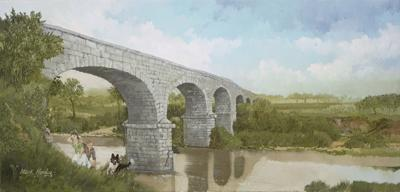 Tales of the old Stone Bridge con-tinue to compel one Fayetteville art-ist to speculate