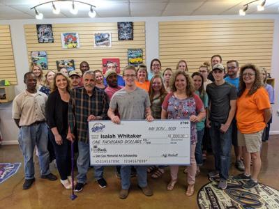 Whitaker is the Dan Cox Memorial Art Scholarship winner