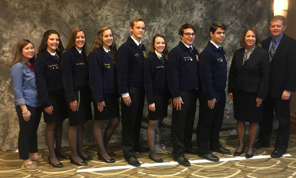 FFA students win big at convention