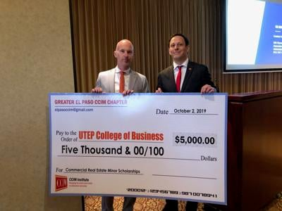 The Greater El Paso CCIM Chapter donated $5,000 to the UTEP College of Business