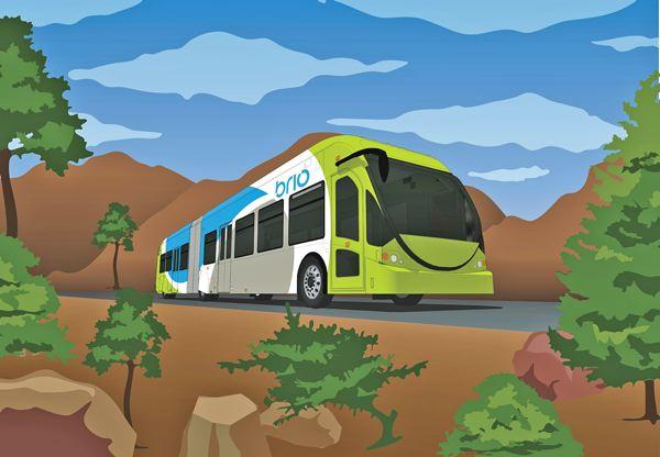 Metro Bus Drawing