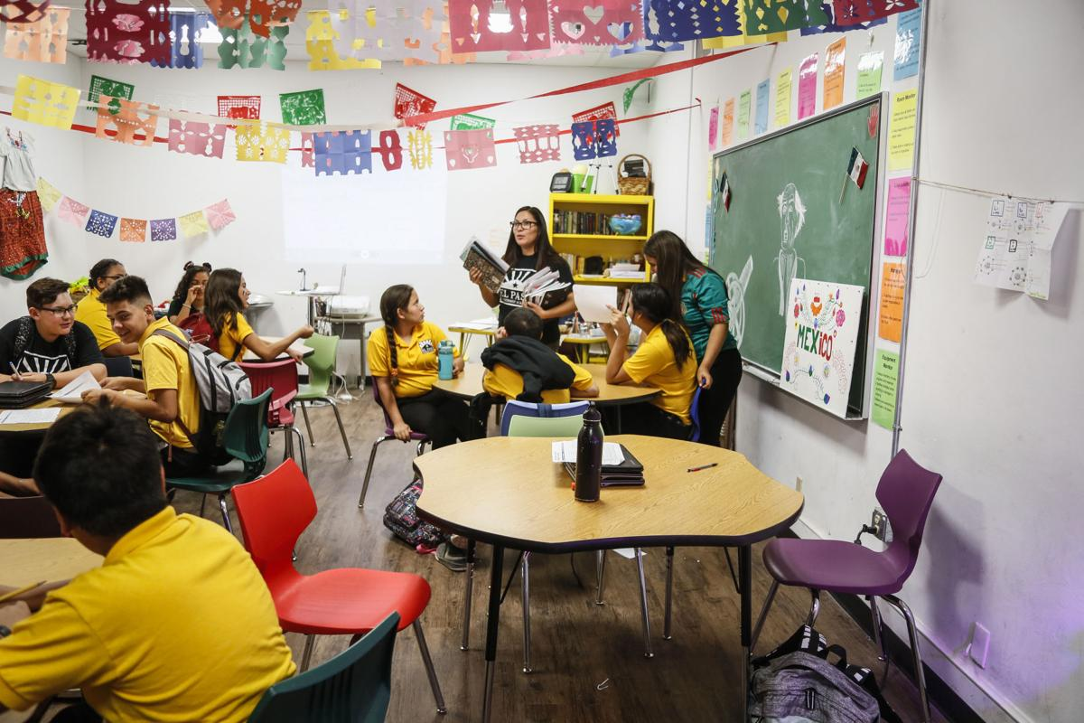 A class at El Paso Leadership Academy, a local charter school that opened in 2014.