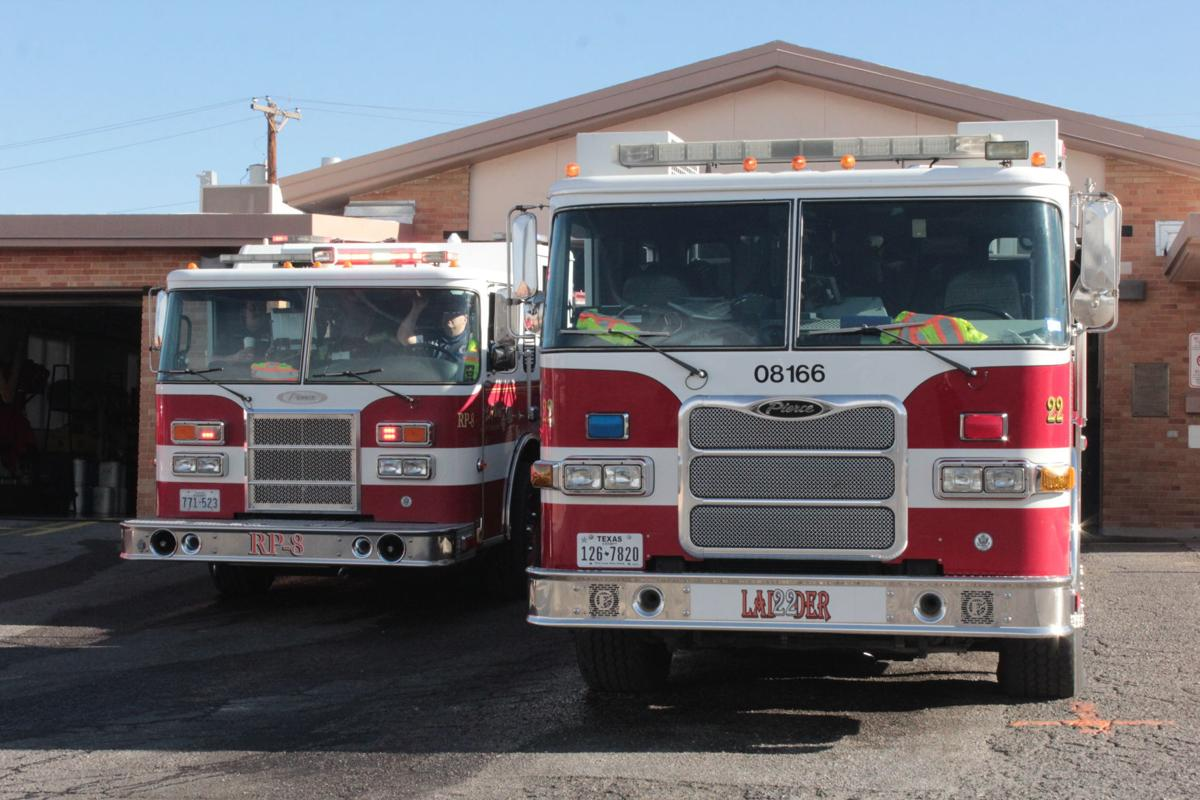 Firefighters at Station 22 respond to a call. The El Paso Fire Department is one of three Texas cities with a Class 1 ISO rating.