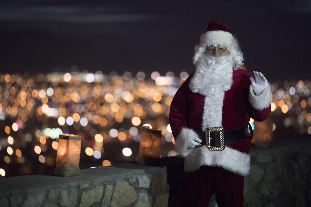 Navidad De La Fe Luminarias on Scenic Drive