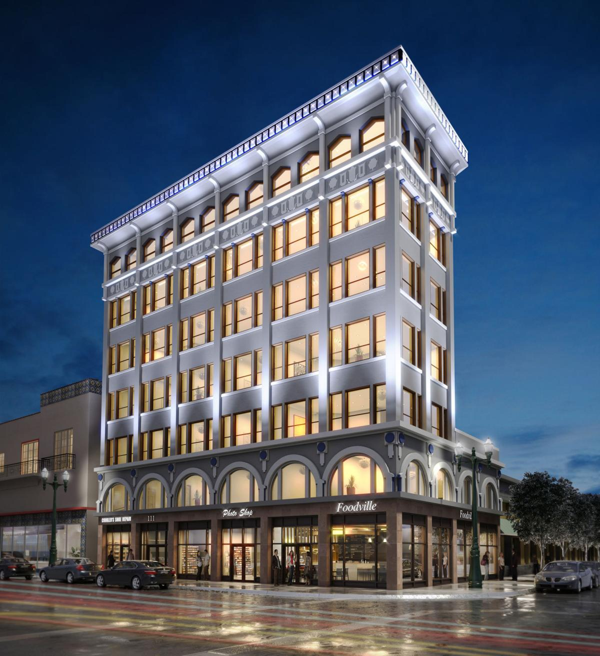 A rendering of the Abdou Building