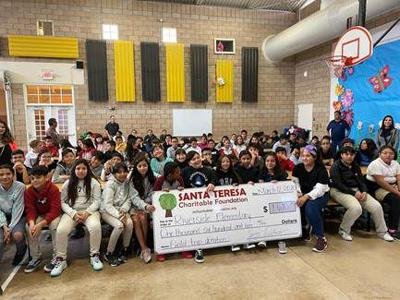 The Santa Teresa Charitable Foundation has made a donation to Riverside Elementary
