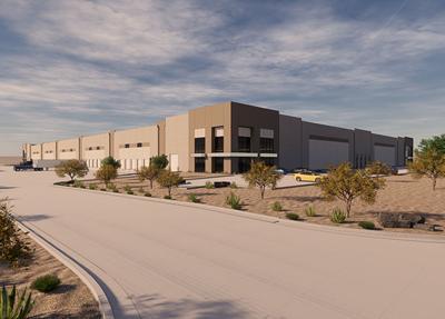Blue Road industrial building rendering