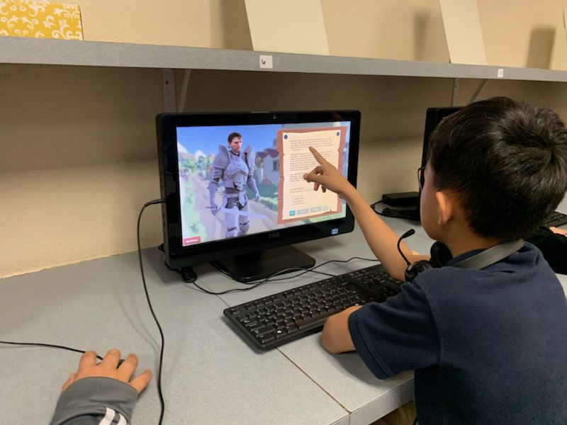Students test video game, learn area history 2