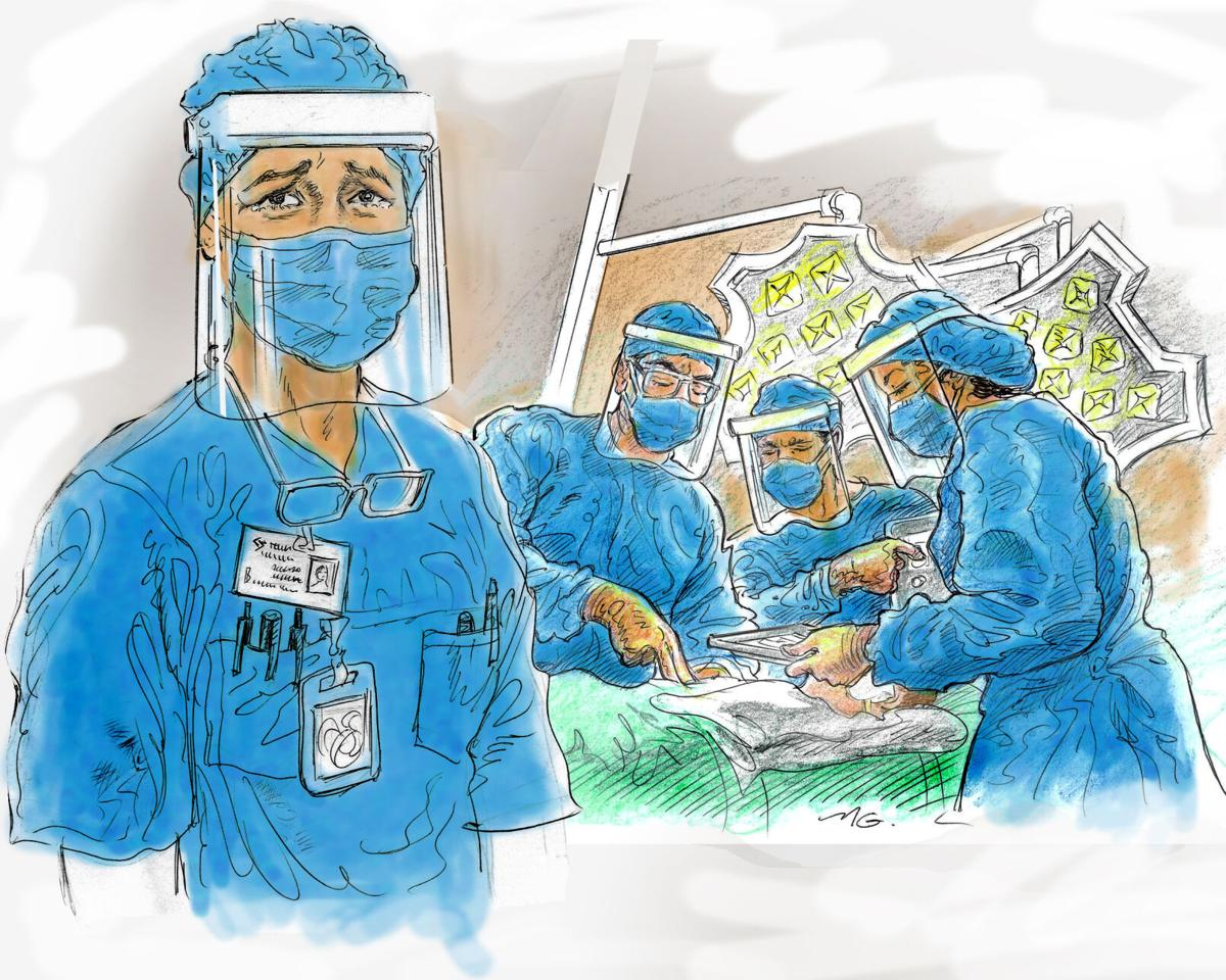 Health Care Workers Art