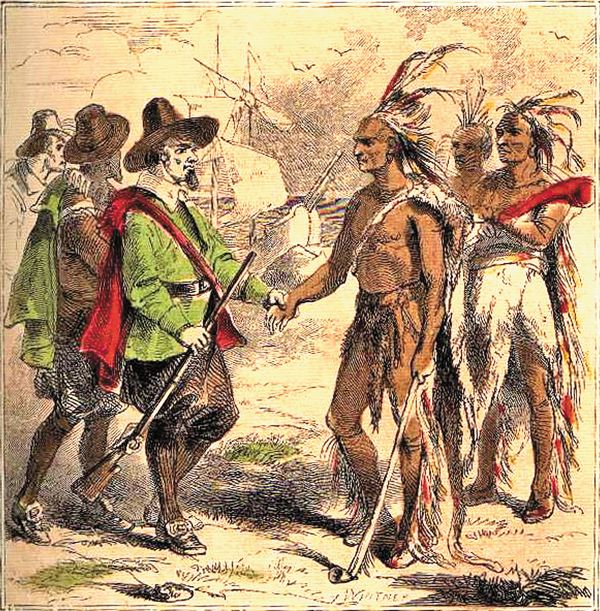 indians meet the pilgrims
