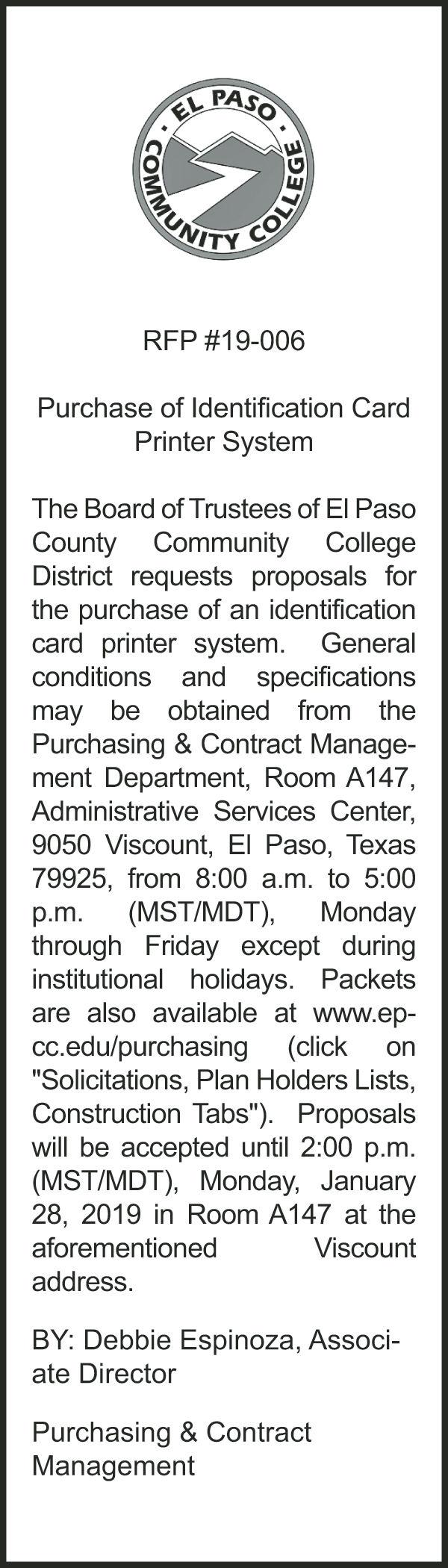 Legal notice for November 25-December 1   Legals   elpasoinc com