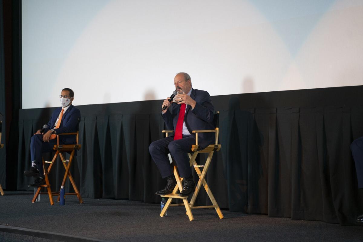 Oscar Leeser speaks at a candidates forum