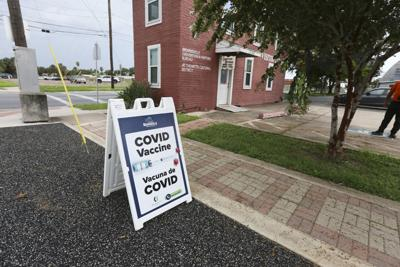 COVID-19 vaccine clinic in Brownsville, Texas